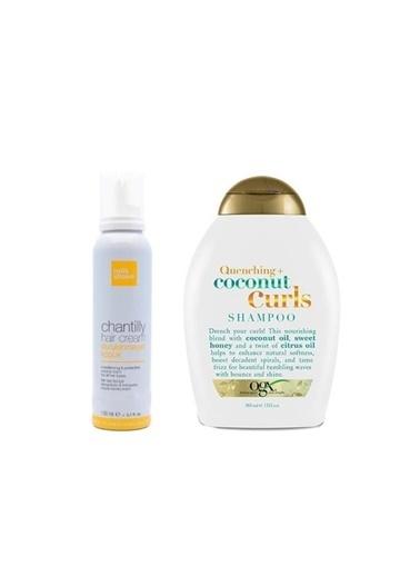 Organix Organix Quenching+Coconut Curls Bukleli Saç Şampuanı 385 Ml+Milk Shake Durulanmayan Bakım Köpük 150 Ml Renksiz